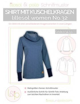 Schnittmuster Lillesol Women No 32 Shirt mit Kuschelkragen