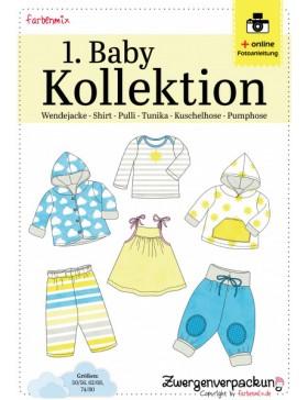 Schnittmuster Set 1. Babykollektion Jacke Shirt Hose Farbenmix