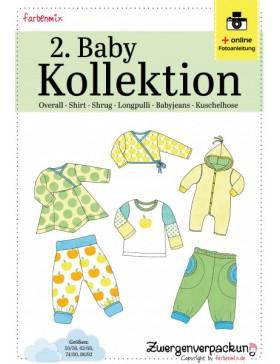 Schnittmuster Set 2. Babykollektion Shirt Hose Overall Farbenmix