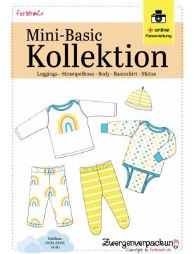 Schnittmuster Set Mini Basic Kollektion Body Hose Shirt Farbenmix