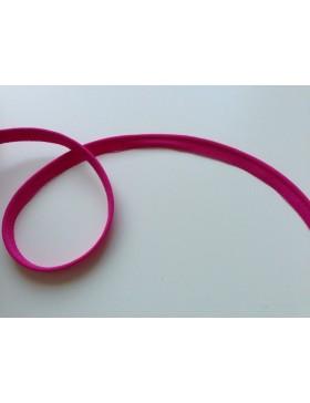 1m elastisches Paspelband pink fuchsia 10 mm breit