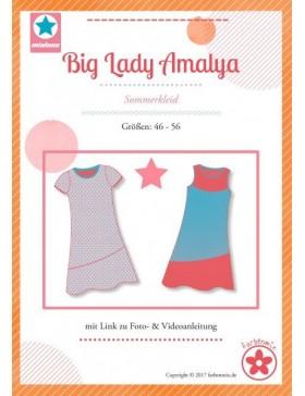 Schnittmuster Big Lady Amalya Sommerkleid Mialuna