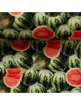 Baumwolle Webware Melone Melonen Baumwollstoff Yummy Food