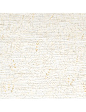 Musselin Double Gauze weiß gold Ähren Muster Katia Fabrics
