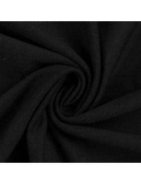 French Terry Sweat einfarbig uni schwarz 299 Maike