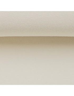 Sweatstoff Sweat natur weiß creme uni einfarbig 009 Eike