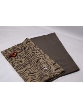 Stoffpaket Kuschelschal Zebra beige schlamm DIY Paket inkl....