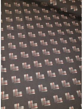 Viskose Jersey Muster Striche braun dunkelbraun retro klassisch