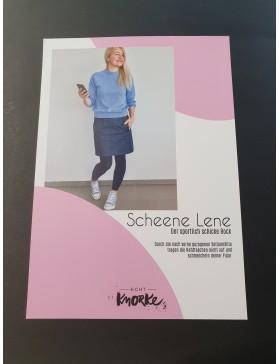 Schnittmuster Scheene Lene Rock sportlich schick Damen Echt Knorke