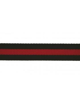 1 Meter Gurtband dunkelblau rot Streifen gestreift 40 mm breit