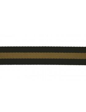 1 Meter Gurtband schwarz beige Streifen gestreift 40 mm breit
