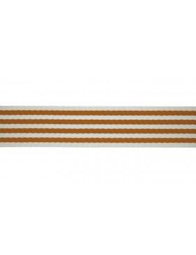 1 Meter Gurtband senf creme weiß Streifen gestreift 40 mm breit