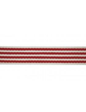1 Meter Gurtband rot creme weiß Streifen gestreift 40 mm breit