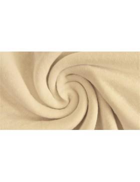 Leinen Viskose Jersey uni einfarbig creme weiß