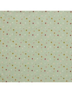 Stoff Nicky Nicki hellgrau grau Blümchen Streublümchen