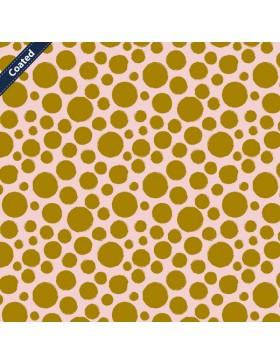 Beschichtete Baumwolle Dots Punkte rosa taupe beige