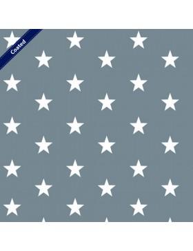 Beschichtete Baumwolle Stars Stern Sterne grau weiß