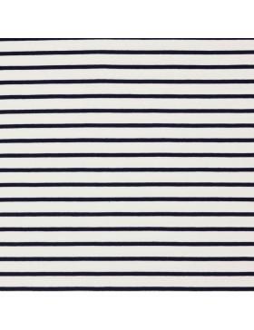 French Terry Sweat weiß dunkelblau blau gestreift Streifen maritim