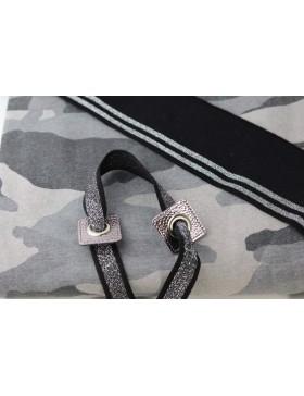 DIY Stoffpaket Sweater Hoodie Camouflage grau weiß Sweatstoff inkl...