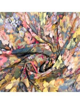 Viskose Krepp Blumen Blüten bunt Digitaldruck Marion Fibre Mood