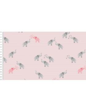 Jersey Elephants Elefanten auf rosa