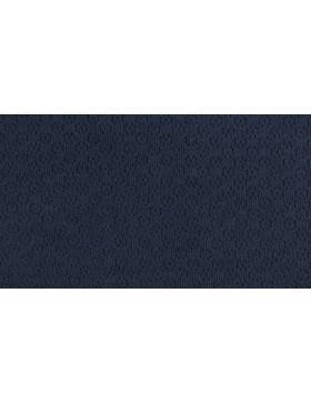 Jacquard Strick dunkelblau mit Lochmuster Ajour