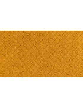 Jacquard Strick senf senfgelb mit Lochmuster Ajour