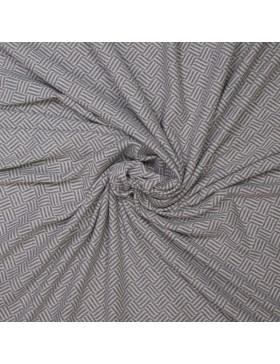 Jacquard Strick Rauten Muster Striche grau weiß