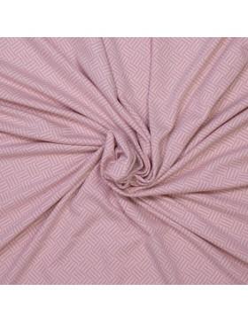 Jacquard Strick Rauten Muster Striche rosa weiß