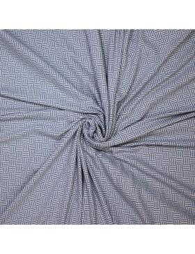 Jacquard Strick Rauten Muster Striche blau weiß