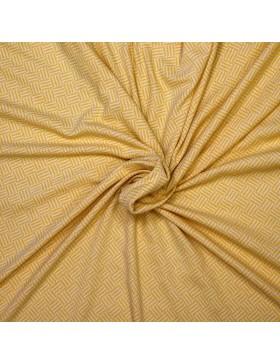 Jacquard Strick Rauten Muster Striche gelb weiß
