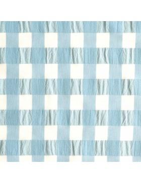 Baumwolle Webware Vichy Karo hellblau mint weiß 2cm Katia Fabrics