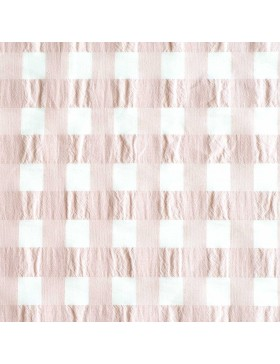 Baumwolle Webware Vichy Karo altrosa weiß 2cm Katia Fabrics