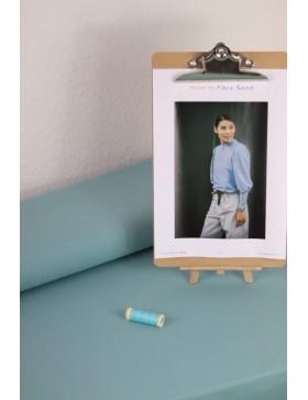DIY Paket Mabel French Terry dark aqua (dunkleres türkis) Pullover...