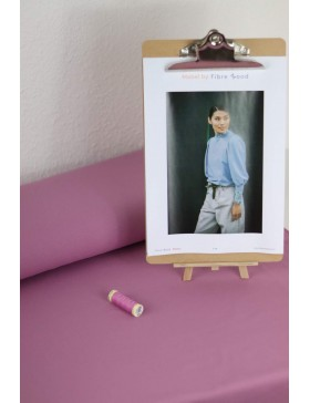 DIY Paket Mabel French Terry lavendel Pullover mit Rüschen Fibre Mood