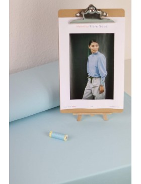 DIY Paket Mabel French Terry light blue hellblau Pullover mit...