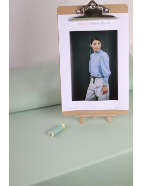 DIY Paket Mabel French Terry mint mintgrün hell Pullover mit...