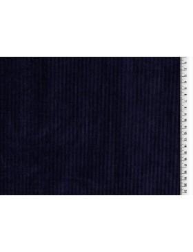 Cord Jersey breit gerippt dunkelblau blau uni Breitcord