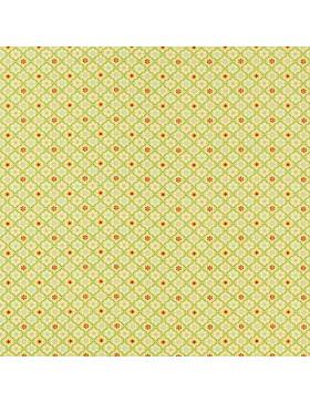 Baumwolle Webware Julia kleine Blümchen grün apfelgrün