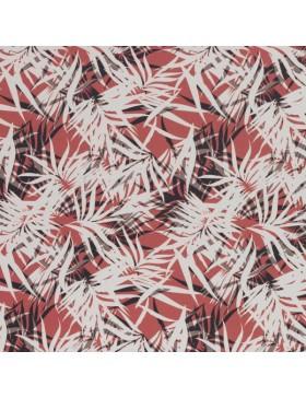 Canvas Taschenstoff Blätter Palmen koralle creme schwarz Rinteln...