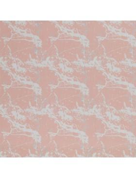 Baumwollstoff Stoff Marmor Muster rosa rose koralle Swafing Kim