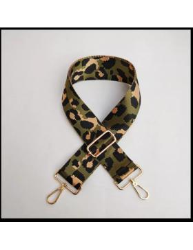 Fertiges Gurtband Leo Khaki oliv schwarz