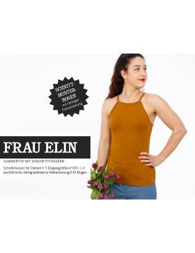 Schnittmuster Frau Elin Schnittreif Top mit Spaghettiträger Trägertop