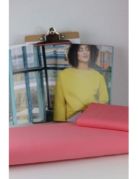 DIY Stoffpaket Shirt Pullover Vera koralle hummer Fibre Mood Gr. XS...