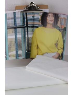 DIY Stoffpaket Shirt Pullover Vera weiß Fibre Mood Gr. XS bis M