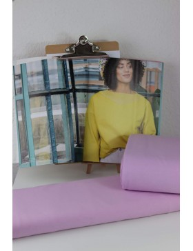 DIY Stoffpaket Shirt Pullover Vera flieder Fibre Mood Gr. L bis XXXL