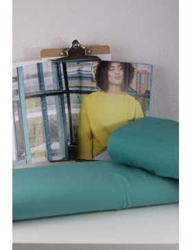 DIY Stoffpaket Shirt Pullover Vera salbei mint grün dunkel Fibre...