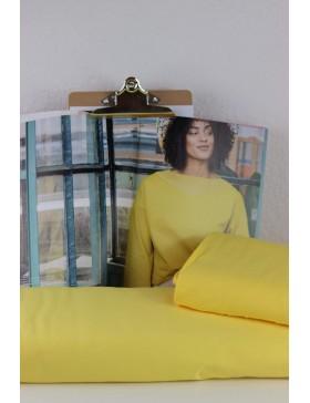 DIY Stoffpaket Shirt Pullover Vera gelb sonnengelb Fibre Mood Gr. L...