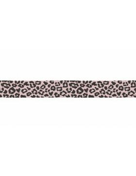 3m Jersey Schrägband Leo Leomuster rose dusty pink schwarz 20 mm