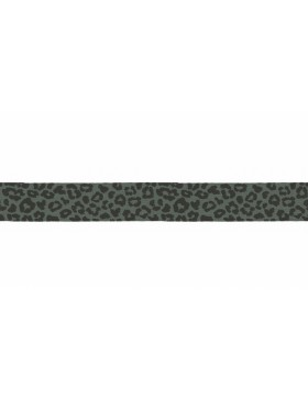 3m Jersey Schrägband Leo Leomuster khaki oliv schwarz 20 mm breit